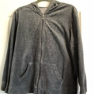 2 piece plush velvet sweat suit.